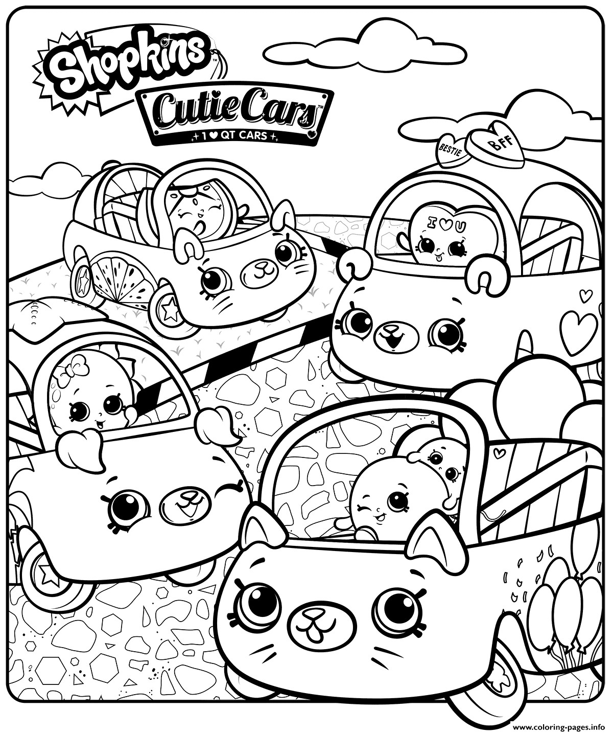 Best ideas about 1950'S Printable Coloring Pages . Save or Pin Shopkins Cutie Cars Sheet Coloring Pages Printable Now.