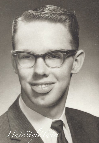 Best ideas about 1950S Male Hairstyles . Save or Pin 1950 s Men s Haircut and Glasses Now.