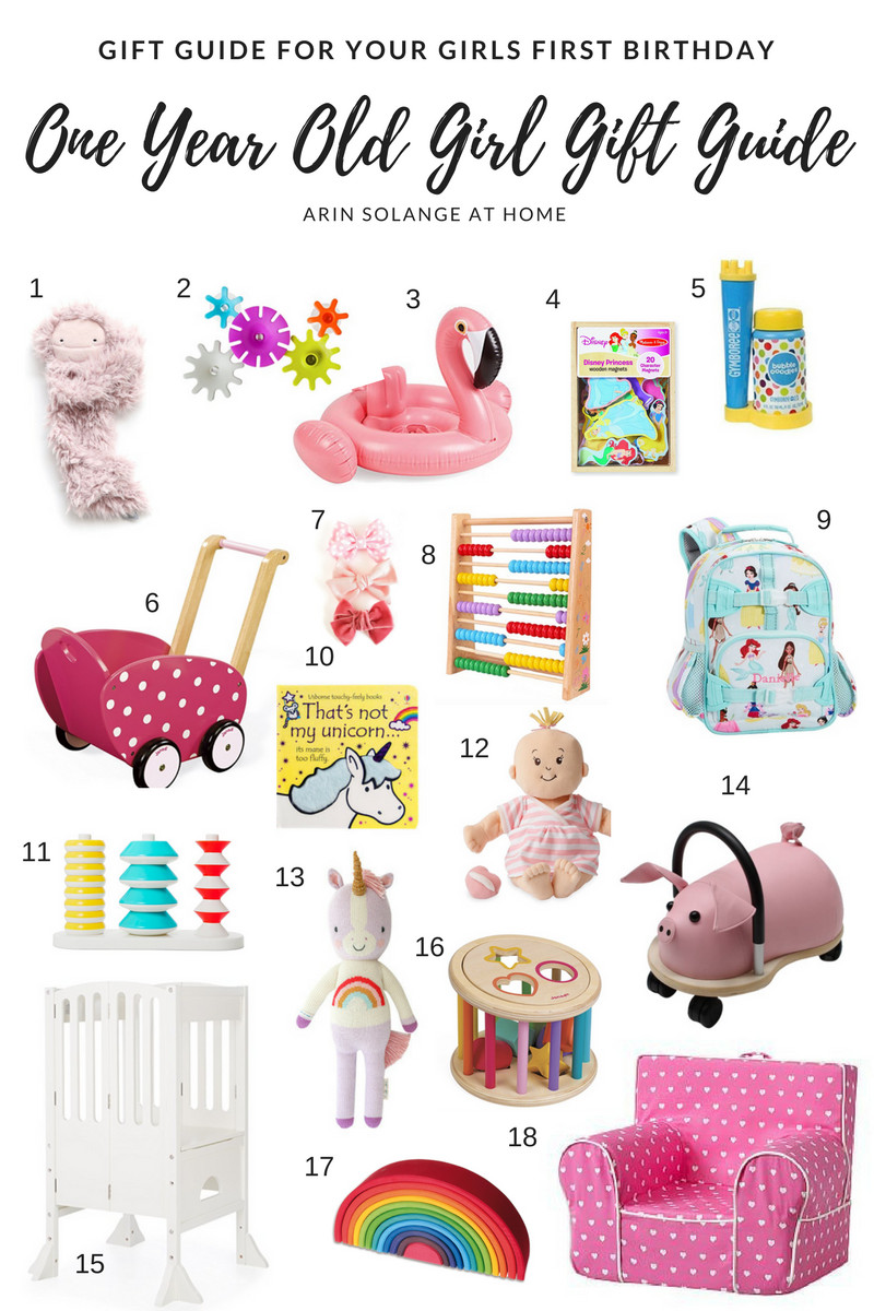 Best ideas about 1st Birthday Gifts For Girl . Save or Pin e Year Old Girl Gift Guide arinsolangeathome Now.