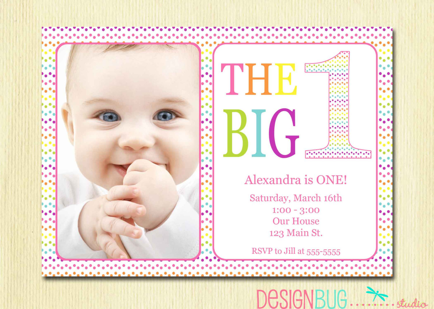 Best ideas about 1st Birthday Girl Invitations . Save or Pin Rainbow First Birthday Invitation Baby Girl DIY Now.