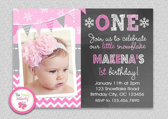 Best ideas about 1st Birthday Girl Invitations . Save or Pin Wonderland Birthday Invitation Wonderland Chalkboard Now.