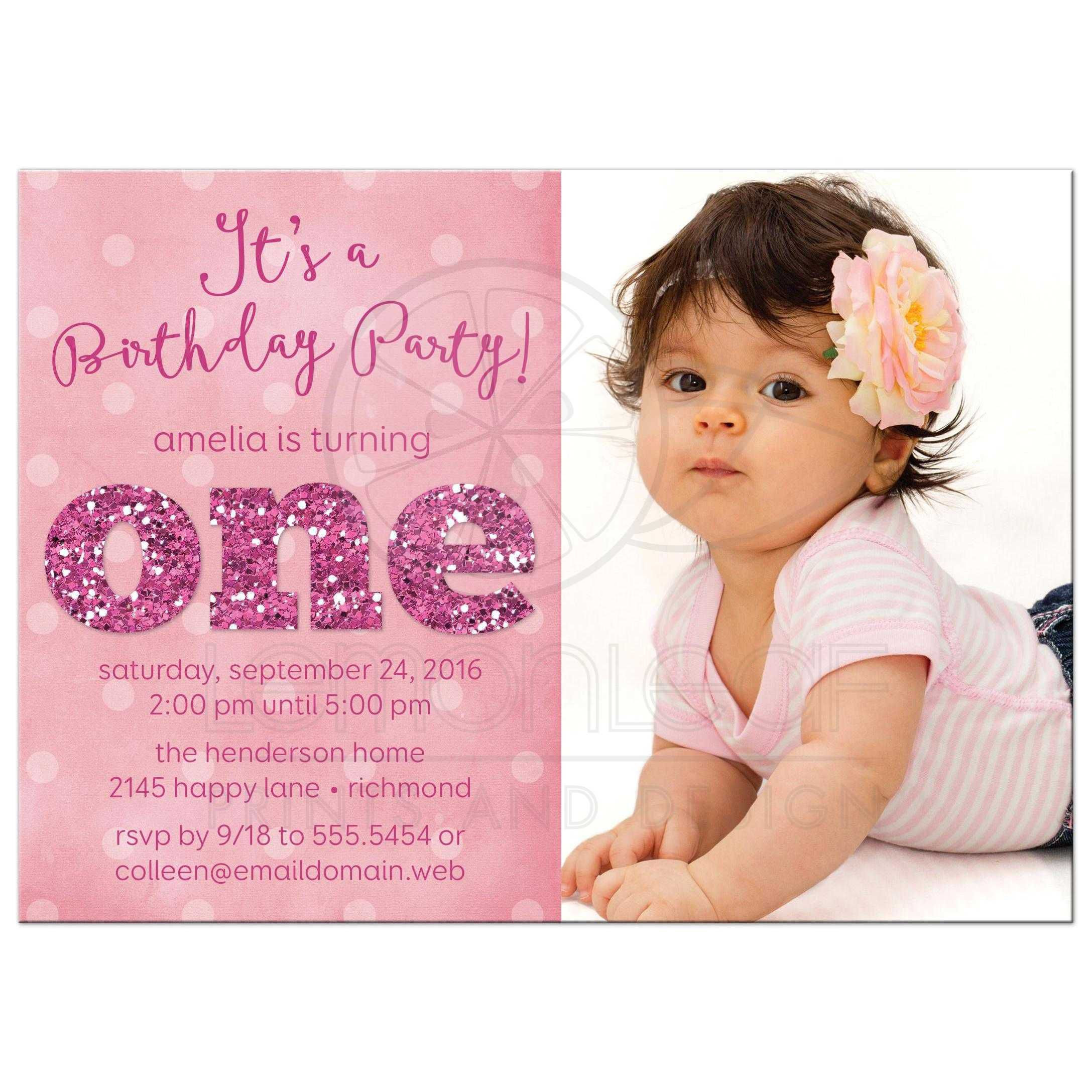 Best ideas about 1st Birthday Girl Invitations . Save or Pin 1st Birthday And Baptism Invitations 1st Birthday And Now.