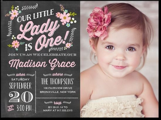 Best ideas about 1st Birthday Girl Invitations . Save or Pin Best 25 First birthday invitations ideas on Pinterest Now.