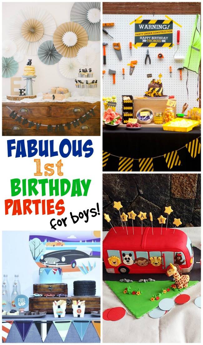 Best ideas about 1st Birthday Ideas For Boys . Save or Pin 1st Birthday Party Ideas For Boys Now.