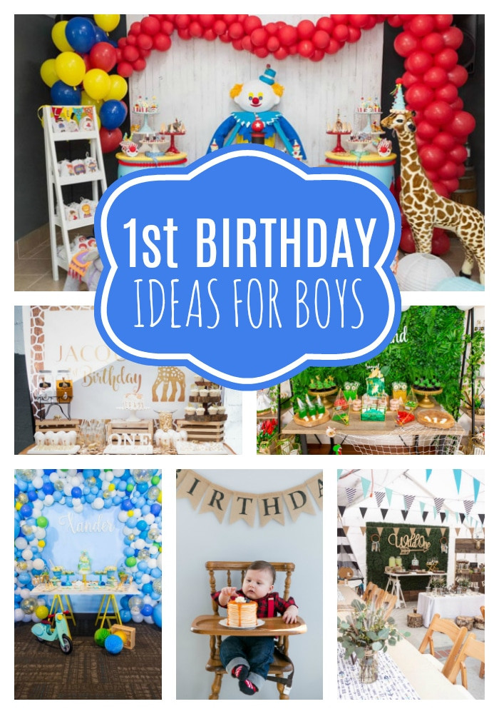 Best ideas about 1st Birthday Ideas For Boys . Save or Pin 18 First Birthday Party Ideas For Boys Pretty My Party Now.