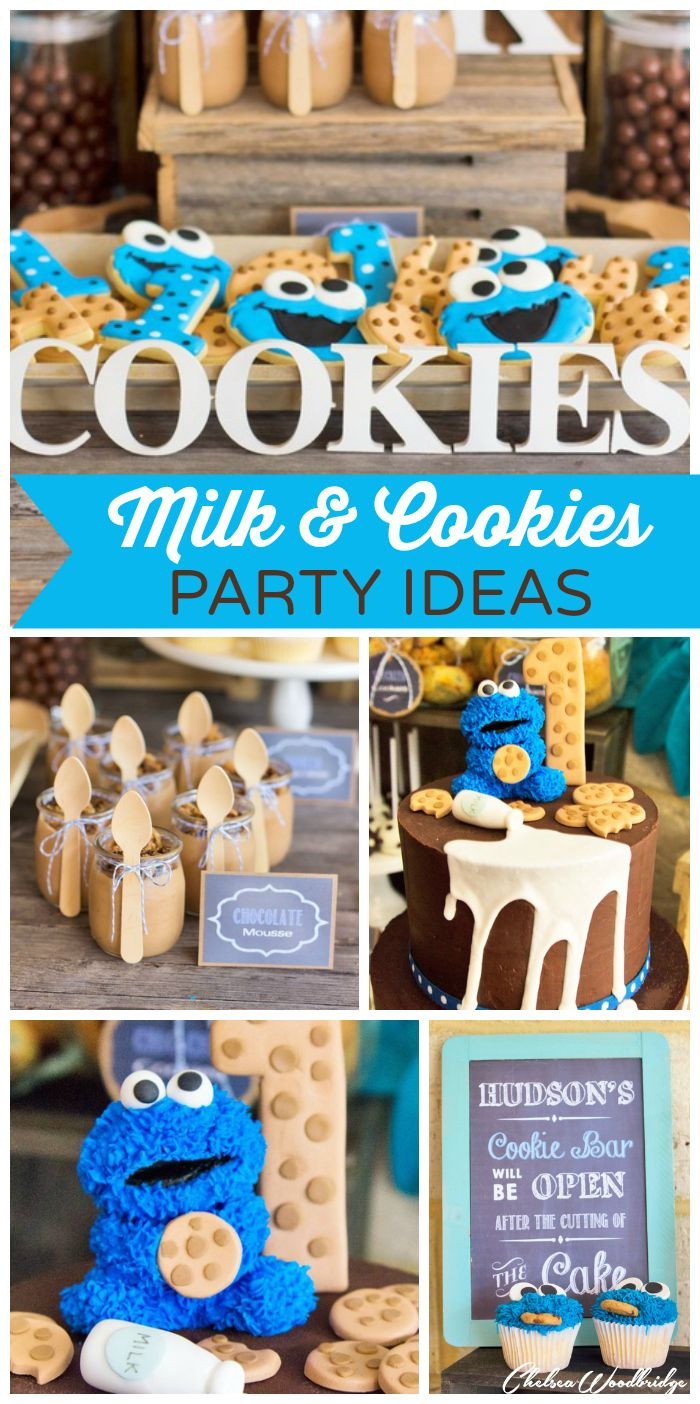"""Best ideas about 1st Birthday Ideas For Boys . Save or Pin MIlk and Cookies Birthday """"Hudson s Milk and Cookie Now."""
