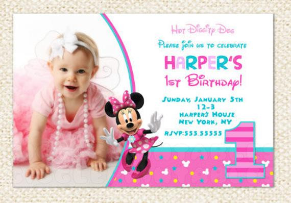 Best ideas about 1st Birthday Minnie Mouse Invitations . Save or Pin Minnie Mouse 1st Birthday Invitations Minnie Invitations Now.