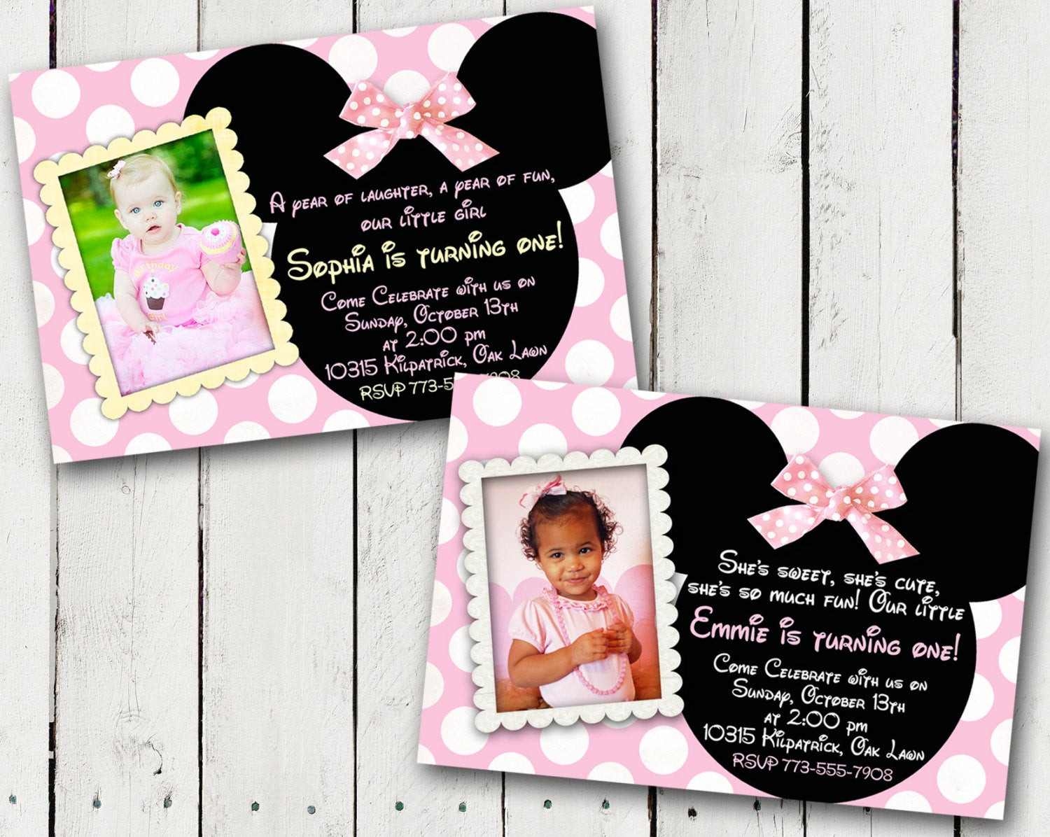 Best ideas about 1st Birthday Minnie Mouse Invitations . Save or Pin Baby Minnie Mouse 1st Birthday Party Invitations Now.