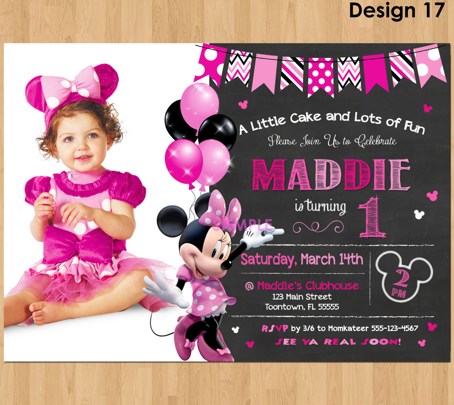 Best ideas about 1st Birthday Minnie Mouse Invitations . Save or Pin Minnie Mouse Invitation Minnie Mouse 1st Birthday First Bday Now.