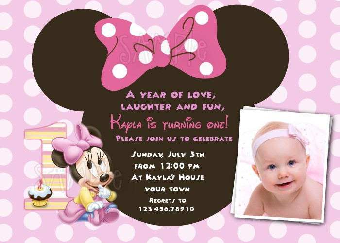 Best ideas about 1st Birthday Minnie Mouse Invitations . Save or Pin FREE Download Minnie Mouse 1st Birthday Invitations Now.
