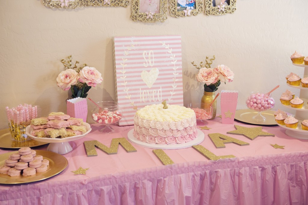 Best ideas about 1st Birthday Party . Save or Pin Miss Mila s First Birthday Party Pink & Gold Twinkle Now.