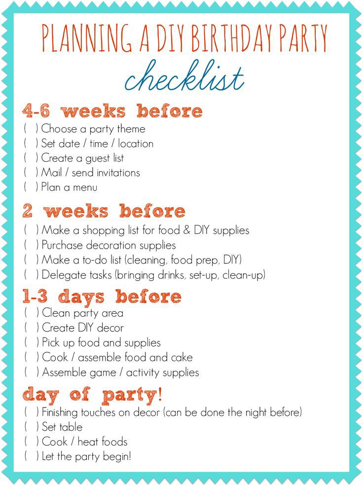 Best ideas about 1st Birthday Party Checklist . Save or Pin First Birthday Party Planner Checklist Now.