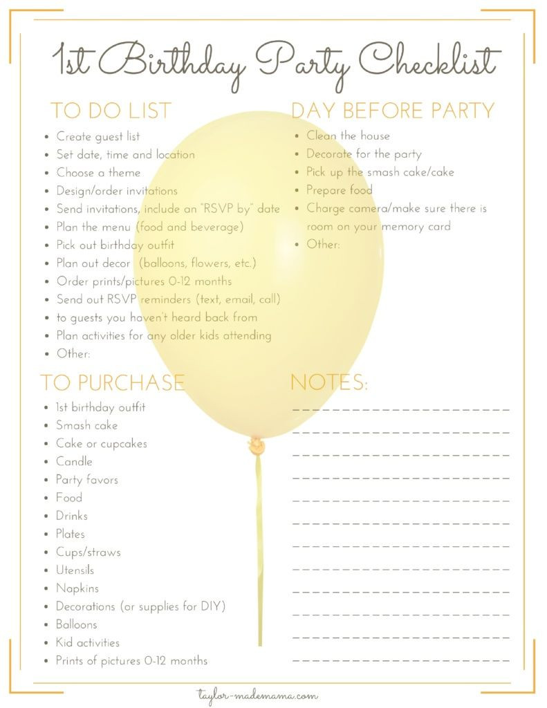 Best ideas about 1st Birthday Party Checklist . Save or Pin The Ultimate First Birthday Party Planning And Gift Guide Now.
