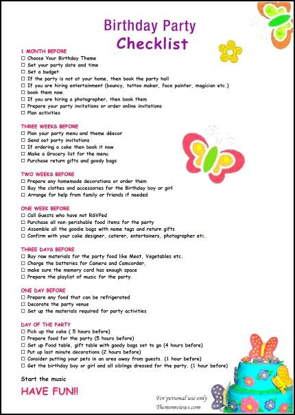 Best ideas about 1st Birthday Party Checklist . Save or Pin 25 best ideas about Birthday party checklist on Pinterest Now.