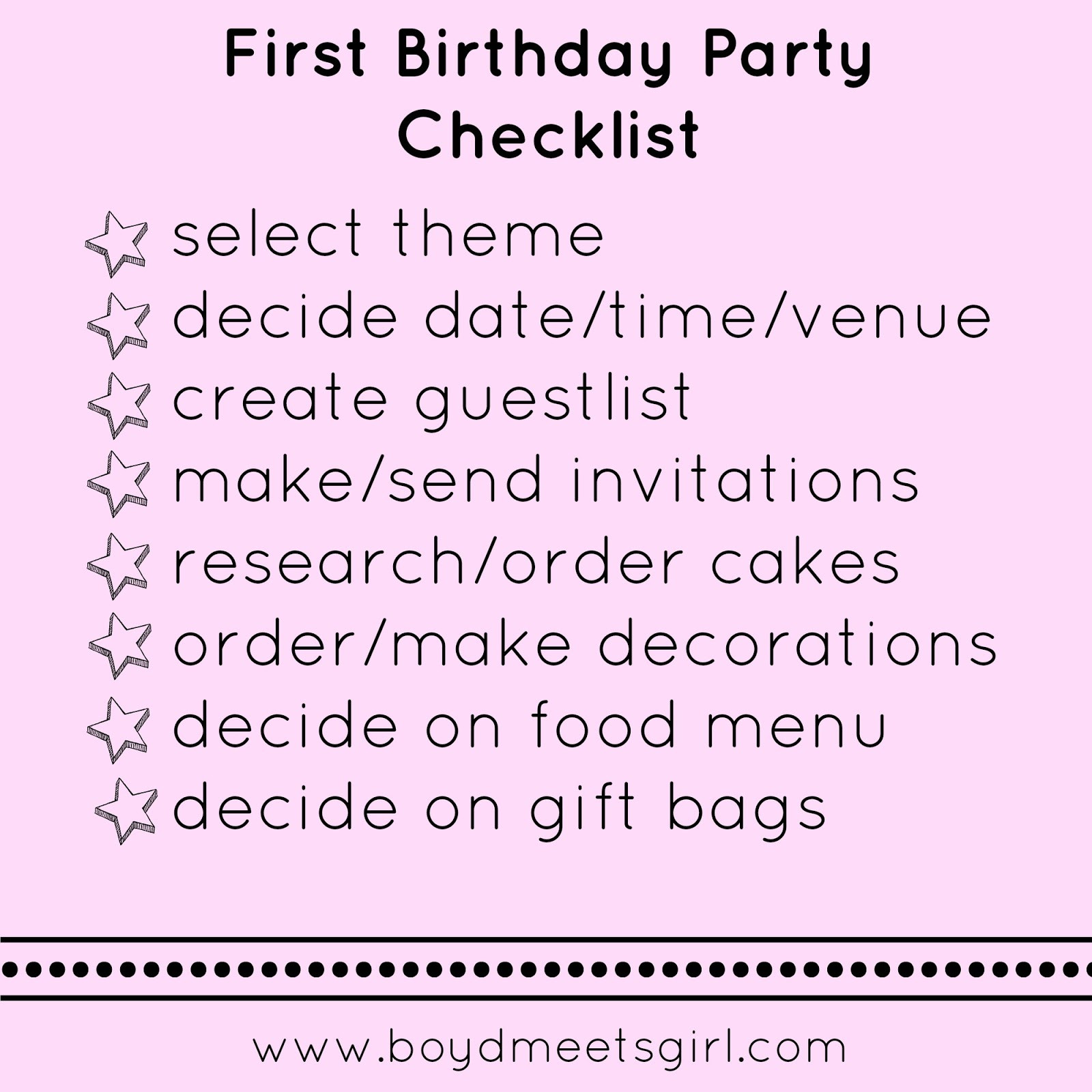 Best ideas about 1st Birthday Party Checklist . Save or Pin First Birthday Party Checklist Now.