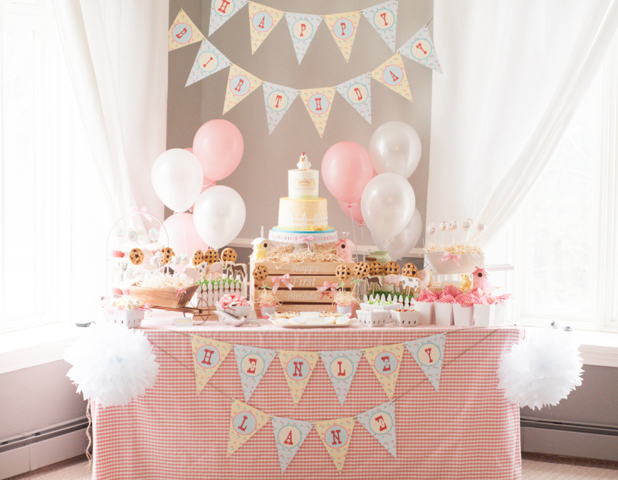 Best ideas about 1st Birthday Party . Save or Pin A Gorgeous Farm 1st Birthday Party Anders Ruff Custom Now.
