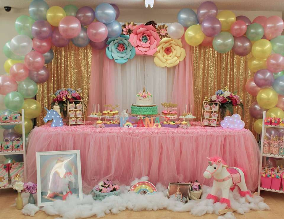 """Best ideas about 1st Birthday Party . Save or Pin Unicorns Birthday """"Keana's Unicorn 1st birthday party Now."""