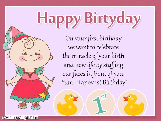 Best ideas about 1st Birthday Wishes . Save or Pin 1st Birthday Wishes Wordings and Messages Now.