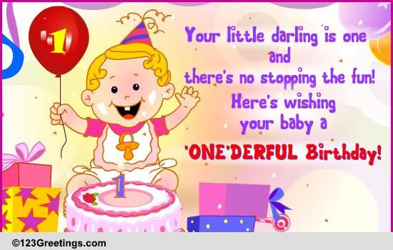 Best ideas about 1st Birthday Wishes . Save or Pin A e derful Birthday Free Milestones eCards Greeting Now.