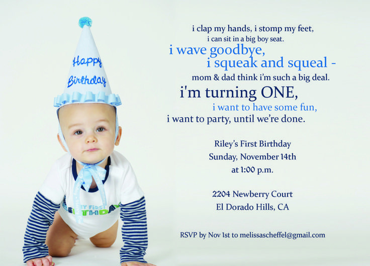 Best ideas about 1st Birthday Wishes For Baby Boy . Save or Pin 9 best H 1st birthday images on Pinterest Now.