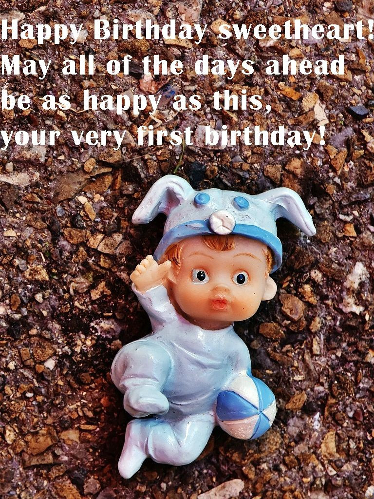 Best ideas about 1st Birthday Wishes For Baby Boy . Save or Pin Birthday Baby Now.
