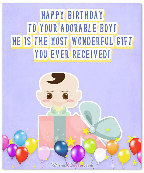 Best ideas about 1st Birthday Wishes For Baby Boy . Save or Pin Wonderful Birthday Wishes for a Baby Boy Happy Birthday Now.