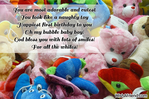 Best ideas about 1st Birthday Wishes For Baby Boy . Save or Pin You are most adorable and cutest 1st Birthday Wish Now.