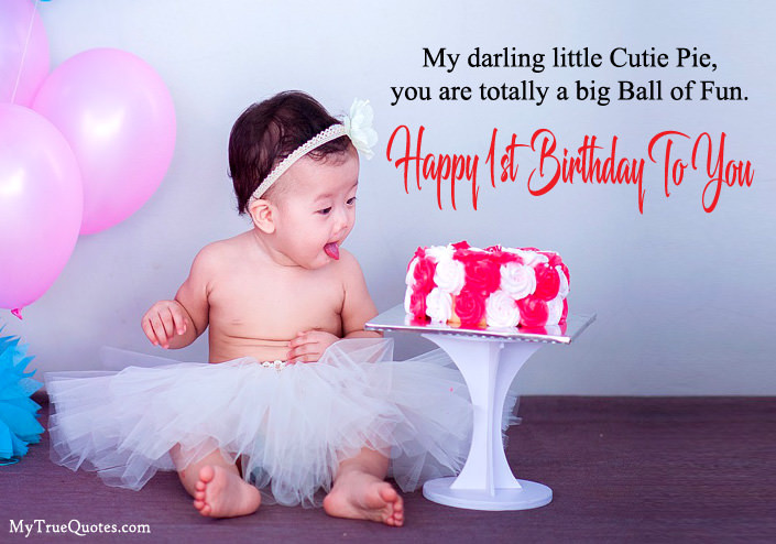Best ideas about 1st Birthday Wishes For Daughter . Save or Pin Happy 1st Birthday Quotes For New Born Baby Girl And baby Boy Now.