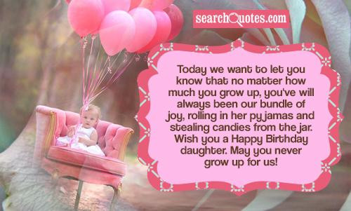 Best ideas about 1st Birthday Wishes For Daughter . Save or Pin Daughter 1st Birthday Quotes Quotations & Sayings 2019 Now.