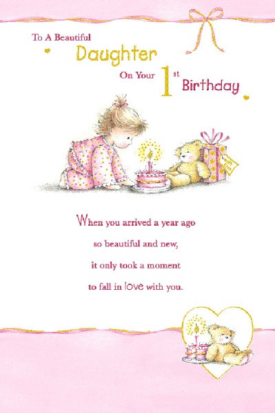 Best ideas about 1st Birthday Wishes For Daughter . Save or Pin Juvenile Birthday Greetings Now.