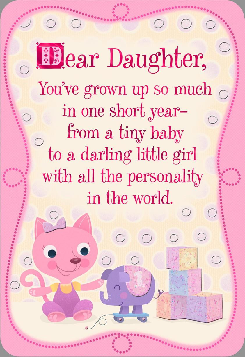 Best ideas about 1st Birthday Wishes For Daughter . Save or Pin Pink Kitten 1st Birthday Card for Daughter Greeting Now.