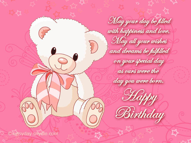 Best ideas about 1st Birthday Wishes For Daughter . Save or Pin Birthday Messages for Your Daughter Easyday Now.