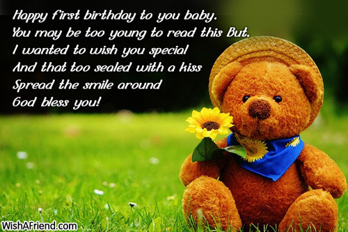 Best ideas about 1st Birthday Wishes For Daughter . Save or Pin QUOTES FROM MOTHER TO DAUGHTER ON HER FIRST BIRTHDAY image Now.