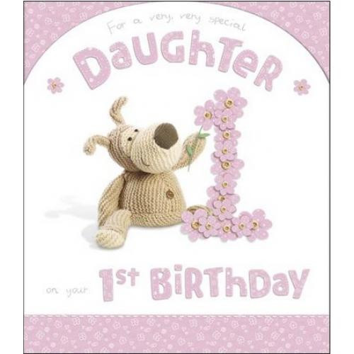 Best ideas about 1st Birthday Wishes For Daughter . Save or Pin Daughter 1st Birthday Extra Card Boofle Happy Now.