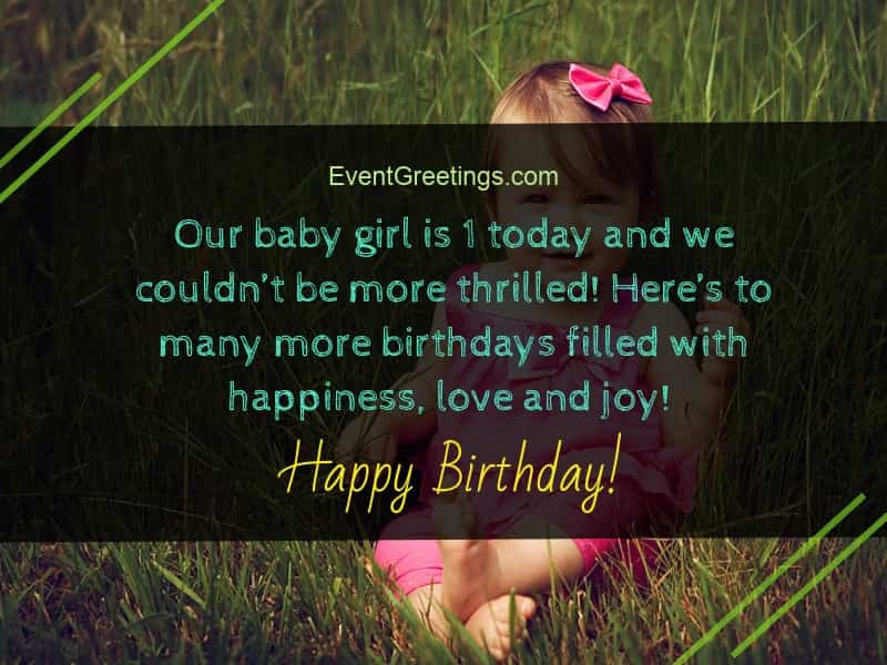 Best ideas about 1st Birthday Wishes For Daughter . Save or Pin 21 Awesome Birthday Wishes For 1 Year Old Daughter Now.