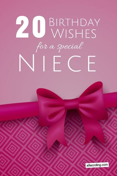 Best ideas about 1st Birthday Wishes For Niece . Save or Pin 20 Birthday Wishes For a Special Niece AllWording Now.