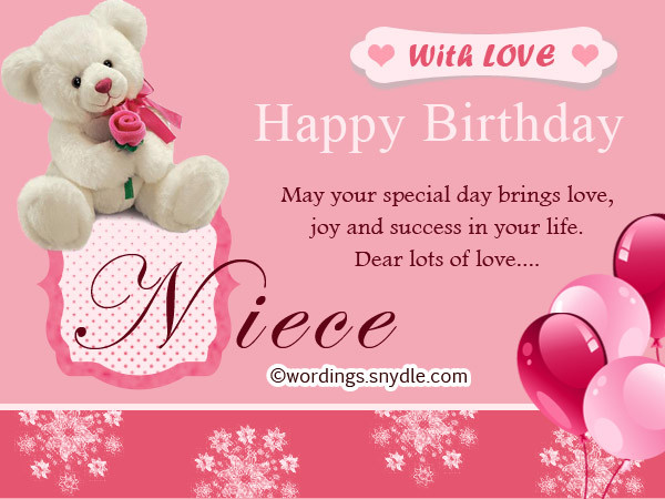Best ideas about 1st Birthday Wishes For Niece . Save or Pin Happy Birthday Wishes for Niece Niece Birthday Messages Now.