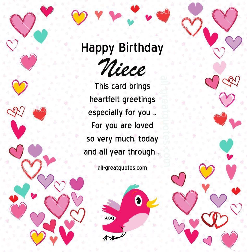Best ideas about 1st Birthday Wishes For Niece . Save or Pin Pin by zansi on Cards and Printables Now.