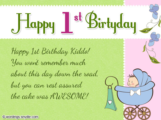 Best ideas about 1st Birthday Wishes For Niece . Save or Pin 1st Birthday Wishes Wordings and Messages Now.