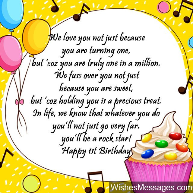Best ideas about 1st Birthday Wishes . Save or Pin 1st Birthday Wishes First Birthday Quotes and Messages Now.