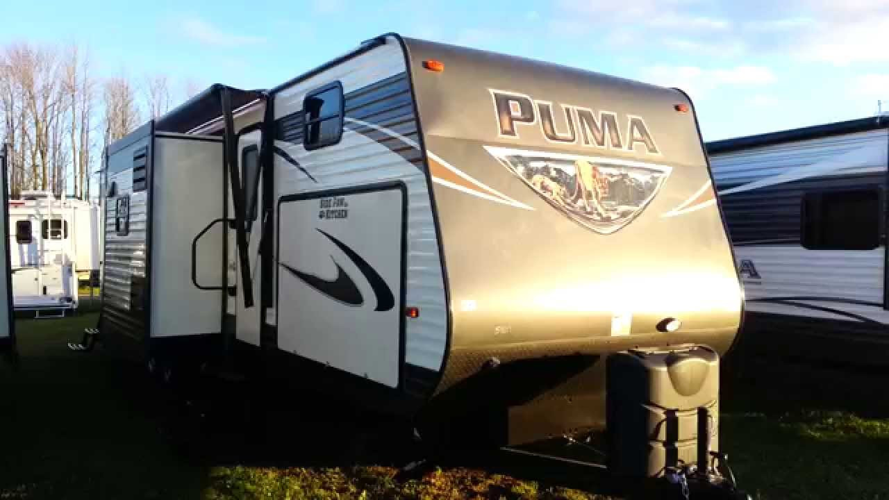 Best ideas about 2 Bedroom Travel Trailer . Save or Pin 2016 Puma 32FBIS 2 Bedroom Travel Trailer with Outside Now.