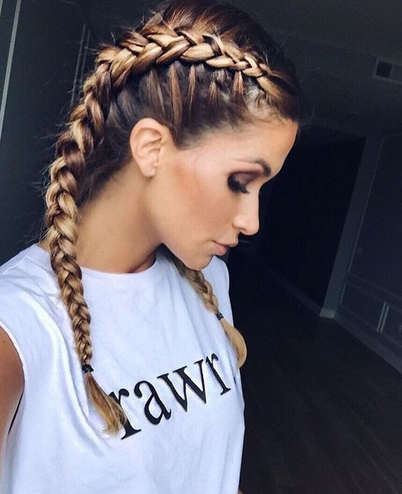 Best ideas about 2 Braids Hairstyle . Save or Pin Best 25 Two french braids ideas on Pinterest Now.