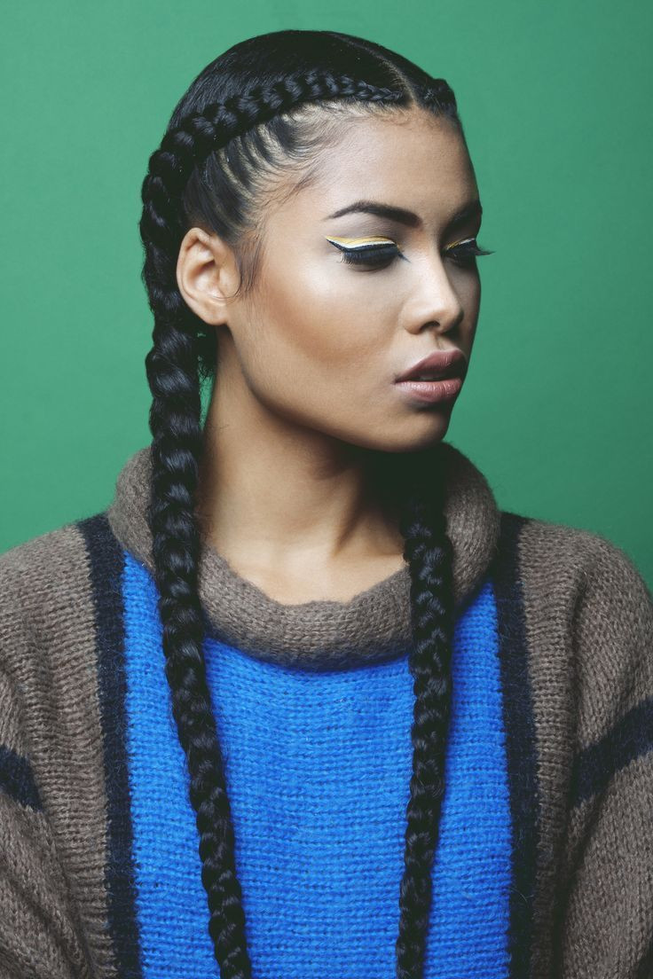 Best ideas about 2 Braids Hairstyle . Save or Pin 2 cornrow braids Google Search hair Now.