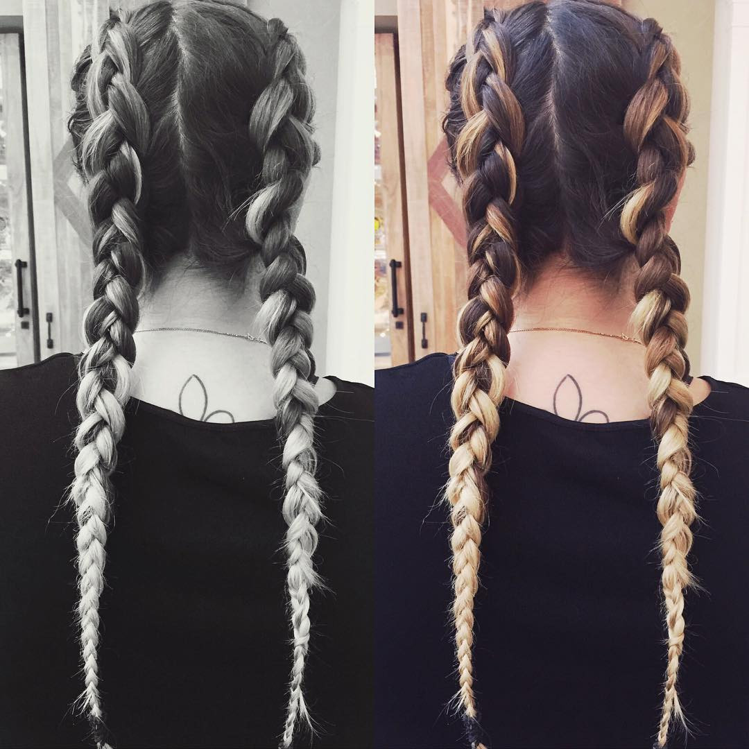 Best ideas about 2 Braids Hairstyle . Save or Pin 20 Two Braids Hairstyle Ideas Designs Now.