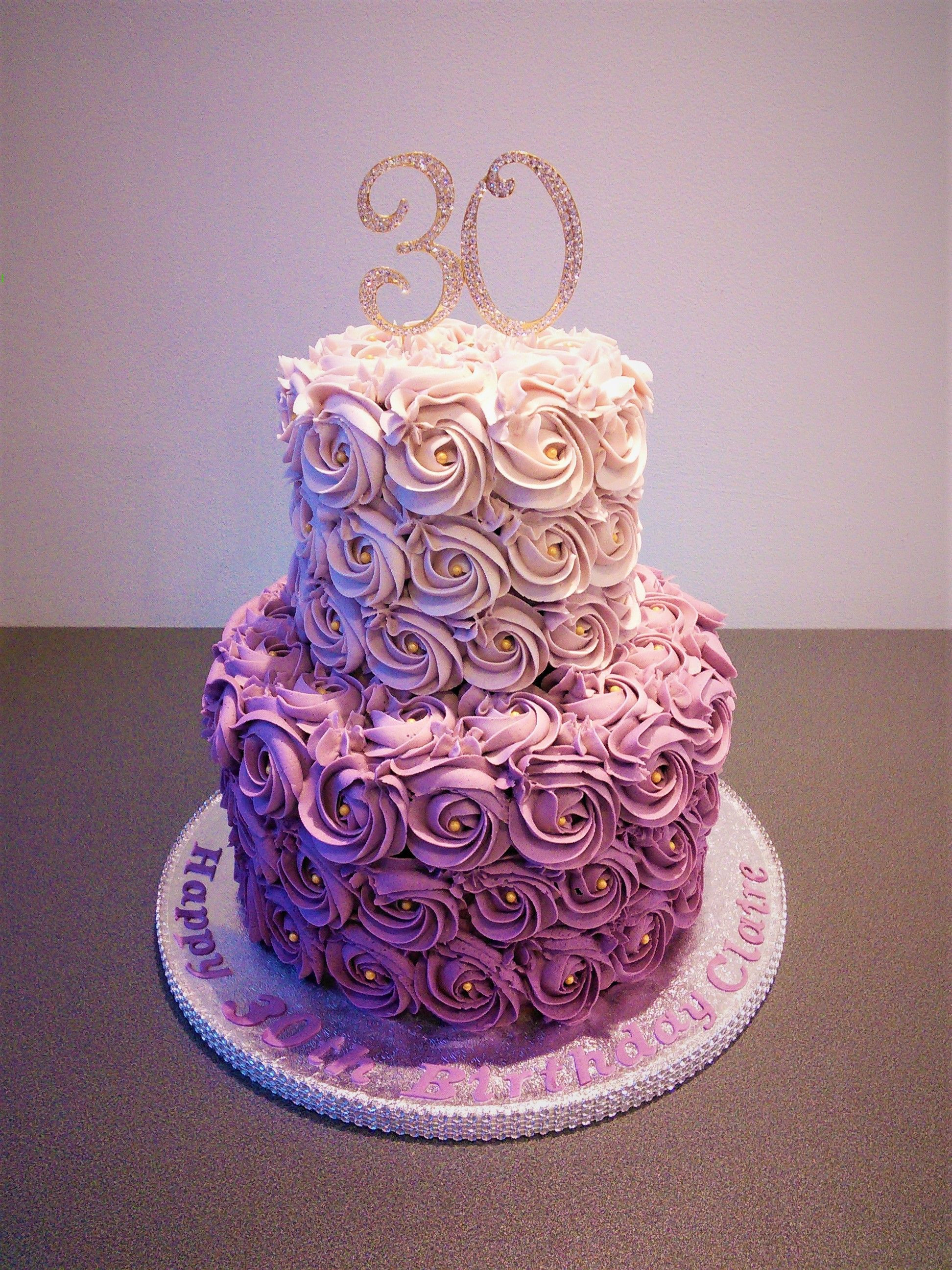 Best ideas about 2 Tier Birthday Cake . Save or Pin purple rose ombre two tier cake Now.