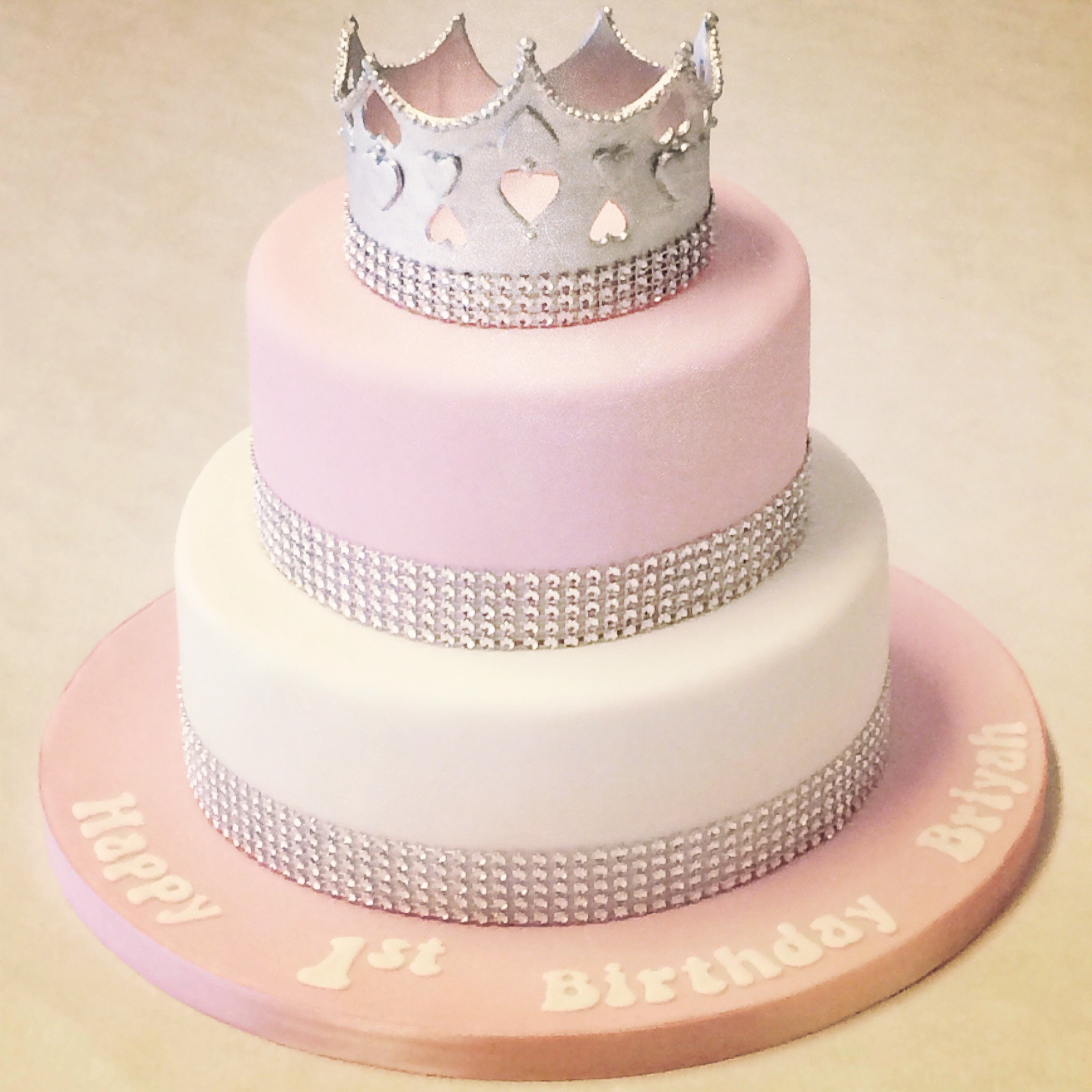 Best ideas about 2 Tier Birthday Cake . Save or Pin 2 Tier Pink and White Princess Cake Children s Birthday Now.