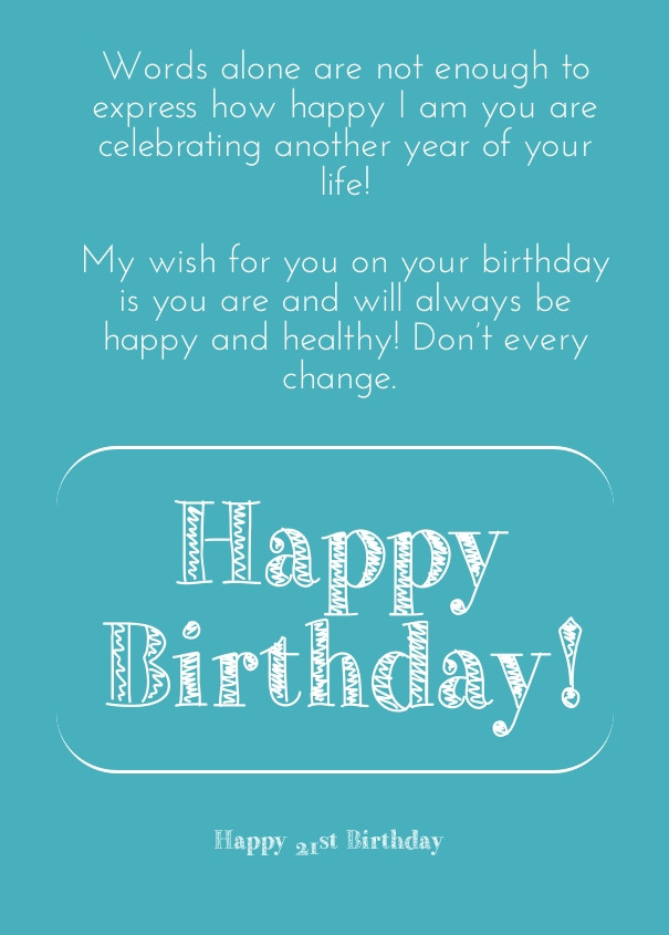 Best ideas about 21 Birthday Quotes . Save or Pin 21 Birthday Quotes About Drinking QuotesGram Now.