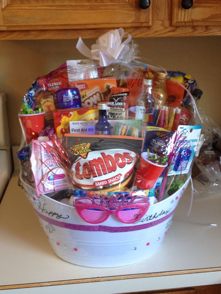 Best ideas about 21 Year Old Gift Ideas . Save or Pin 21 year old Birthday basket Many items can be purchased Now.