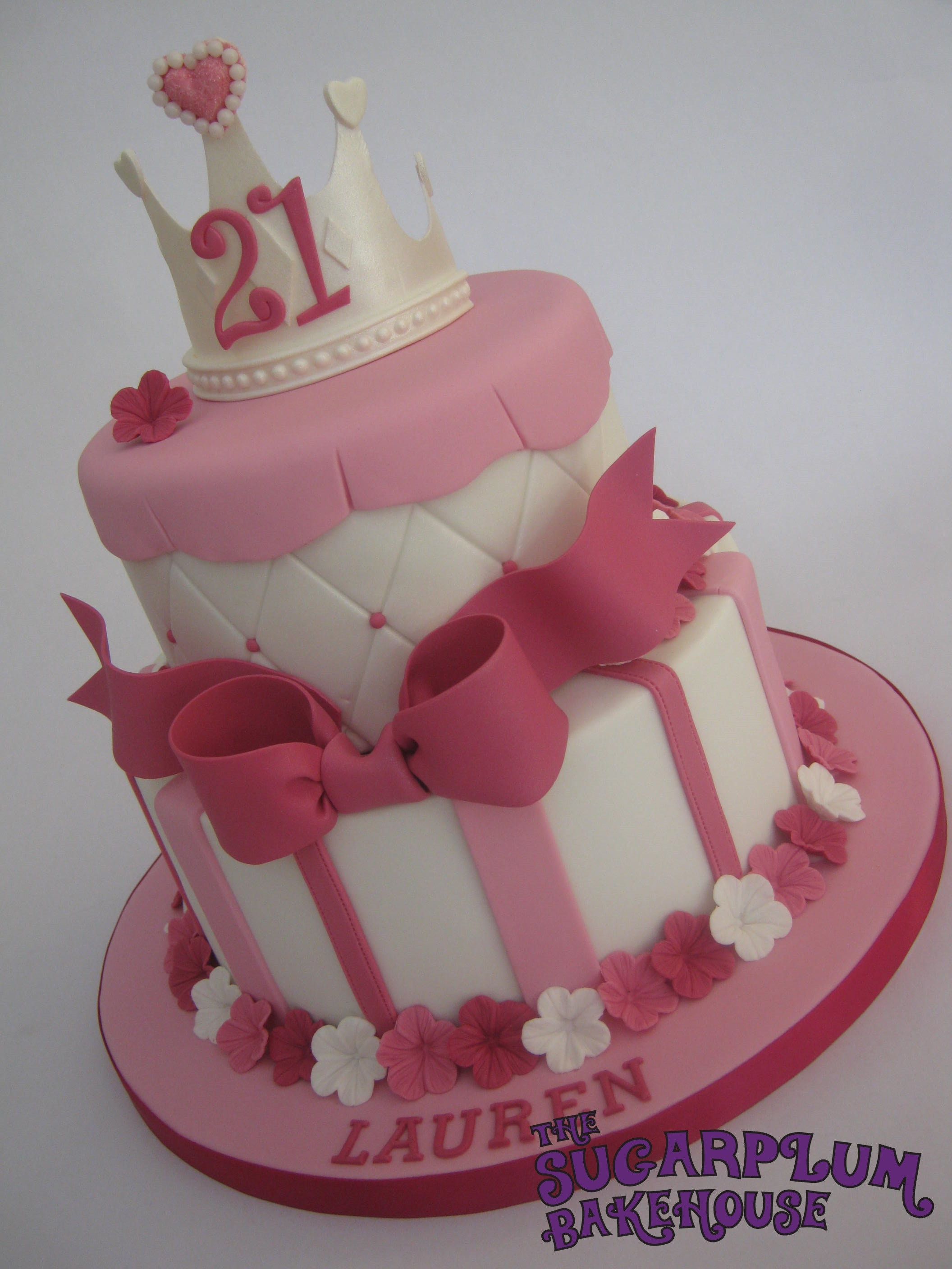 Best ideas about 21st Birthday Cake . Save or Pin 2 Tier Girly Princess 21St Birthday Cake CakeCentral Now.