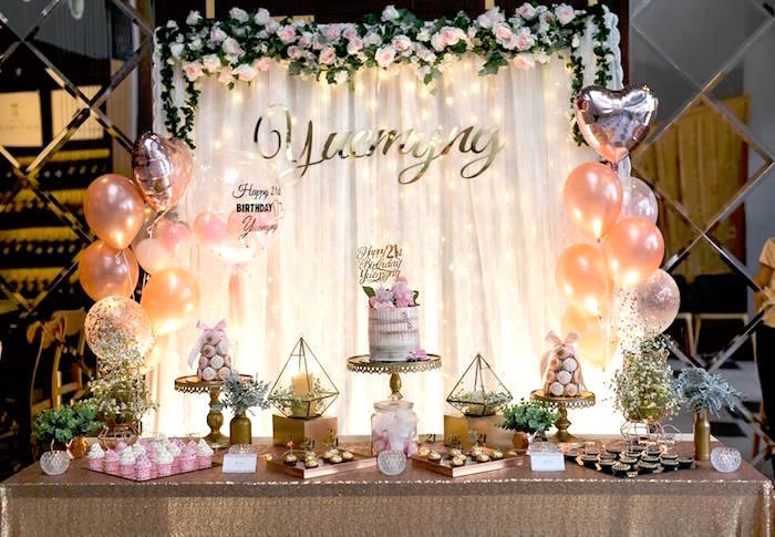 Best ideas about 21st Birthday Decorations . Save or Pin Kara s Party Ideas Elegant 21st Birthday Party Now.